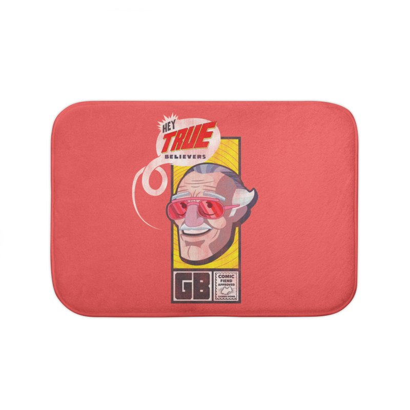 True Believer - Fearless Flavor Home Bath Mat by Gamma Bomb - Explosively Mutating Your Look