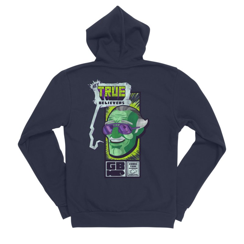 True Believer - Incredible Flavor Women's Sponge Fleece Zip-Up Hoody by Gamma Bomb - Explosively Mutating Your Look