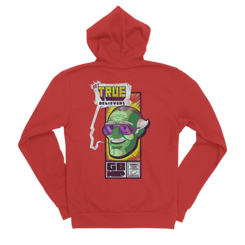 True Believer - Incredible Flavor Men's Sponge Fleece Zip-Up Hoody by Gamma Bomb - Explosively Mutating Your Look