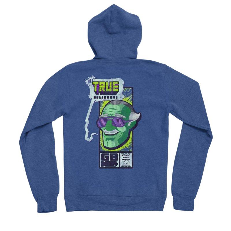 True Believer - Incredible Flavor Men's Sponge Fleece Zip-Up Hoody by Gamma Bomb - Explosively Mutating Your Look