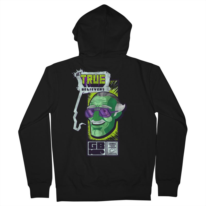 True Believer - Incredible Flavor Men's French Terry Zip-Up Hoody by Gamma Bomb - Explosively Mutating Your Look