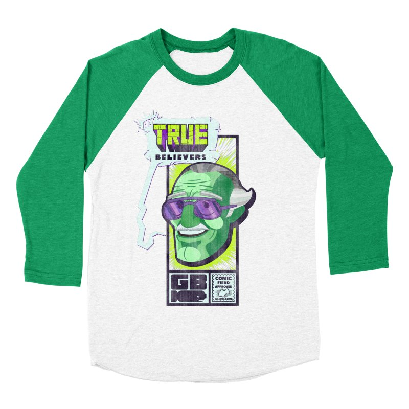 True Believer - Incredible Flavor Men's Baseball Triblend Longsleeve T-Shirt by Gamma Bomb - Explosively Mutating Your Look