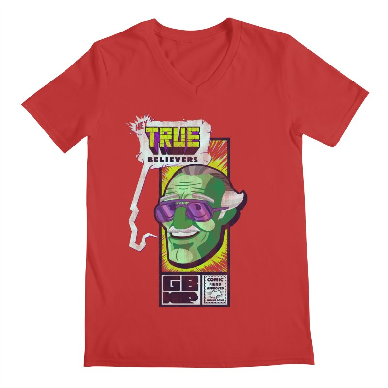 True Believer - Incredible Flavor Men's Regular V-Neck by Gamma Bomb - Explosively Mutating Your Look