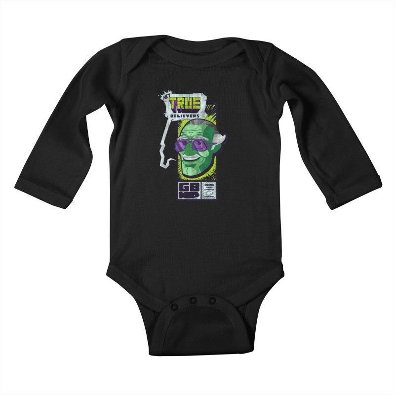 True Believer - Incredible Flavor Kids Baby Longsleeve Bodysuit by Gamma Bomb - Explosively Mutating Your Look