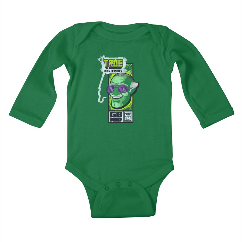 True Believer - Incredible Flavor Kids Baby Longsleeve Bodysuit by Gamma Bomb - Explosively Mutating Your Look