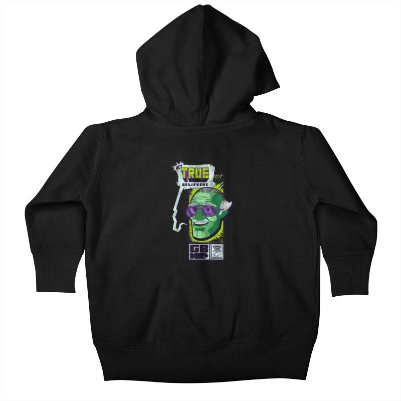 True Believer - Incredible Flavor Kids Baby Zip-Up Hoody by Gamma Bomb - Explosively Mutating Your Look