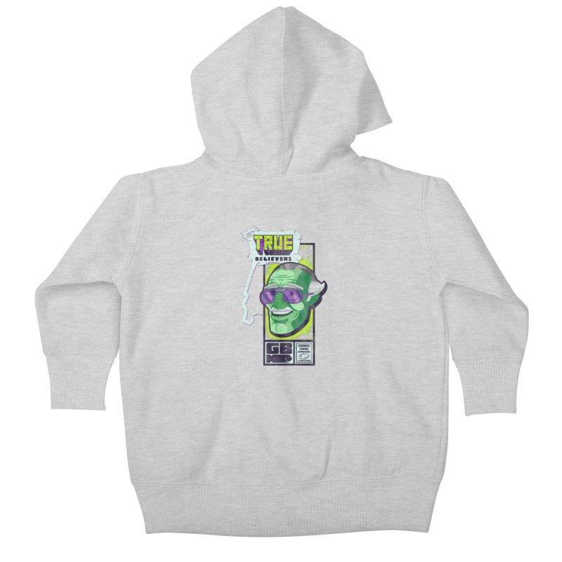 True Believer - Incredible Flavor Kids Baby Zip-Up Hoody by Gamma Bomb - Explosively Mutating Your Look