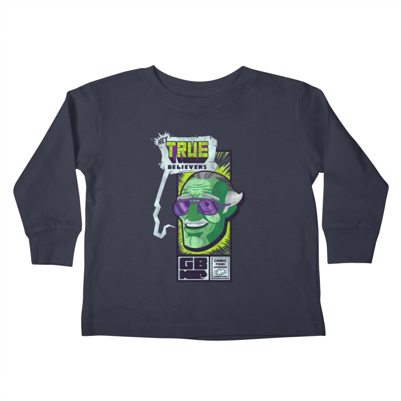 True Believer - Incredible Flavor Kids Toddler Longsleeve T-Shirt by Gamma Bomb - Explosively Mutating Your Look