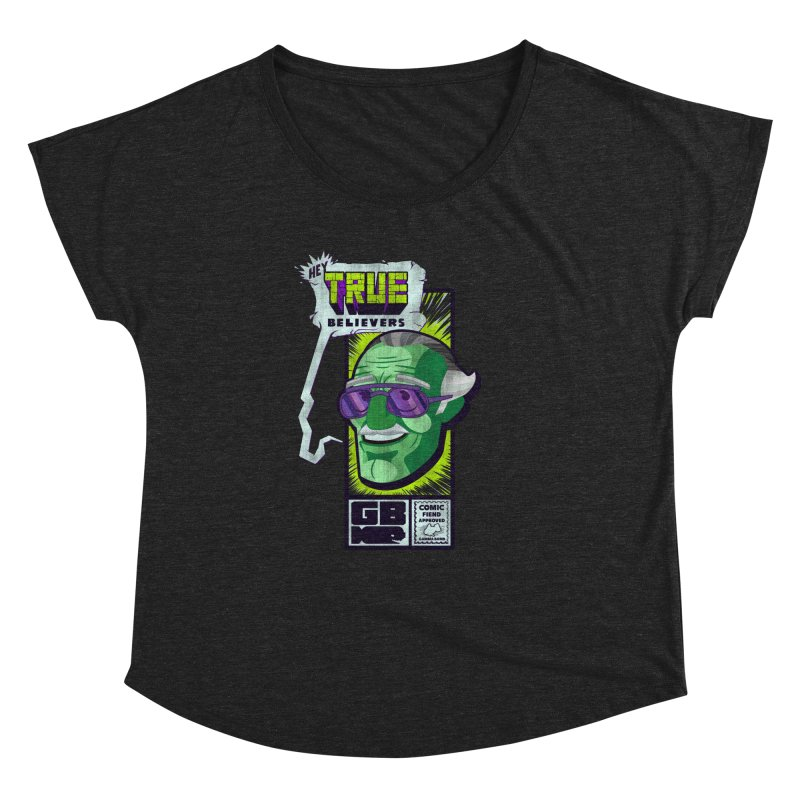 True Believer - Incredible Flavor Women's Dolman Scoop Neck by Gamma Bomb - Explosively Mutating Your Look