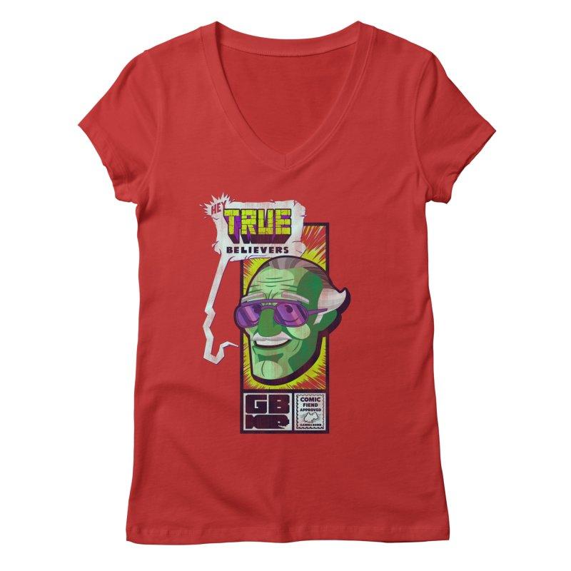 True Believer - Incredible Flavor Women's Regular V-Neck by Gamma Bomb - Explosively Mutating Your Look
