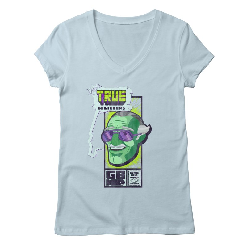 True Believer - Incredible Flavor Women's Regular V-Neck by Gamma Bomb - Explosively Mutating Your Look