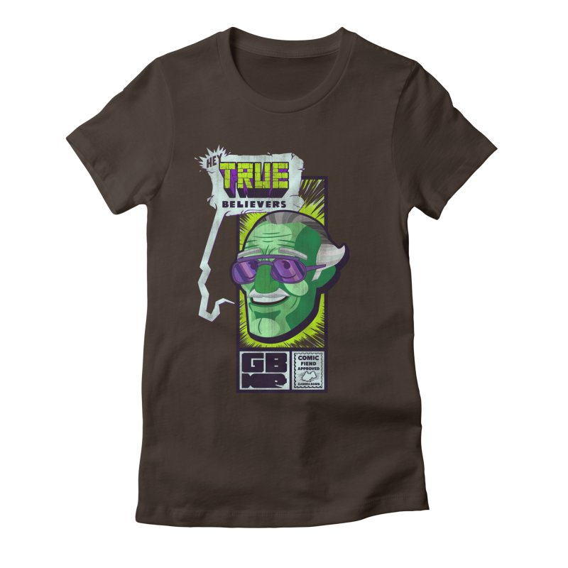 True Believer - Incredible Flavor Women's Fitted T-Shirt by Gamma Bomb - Explosively Mutating Your Look
