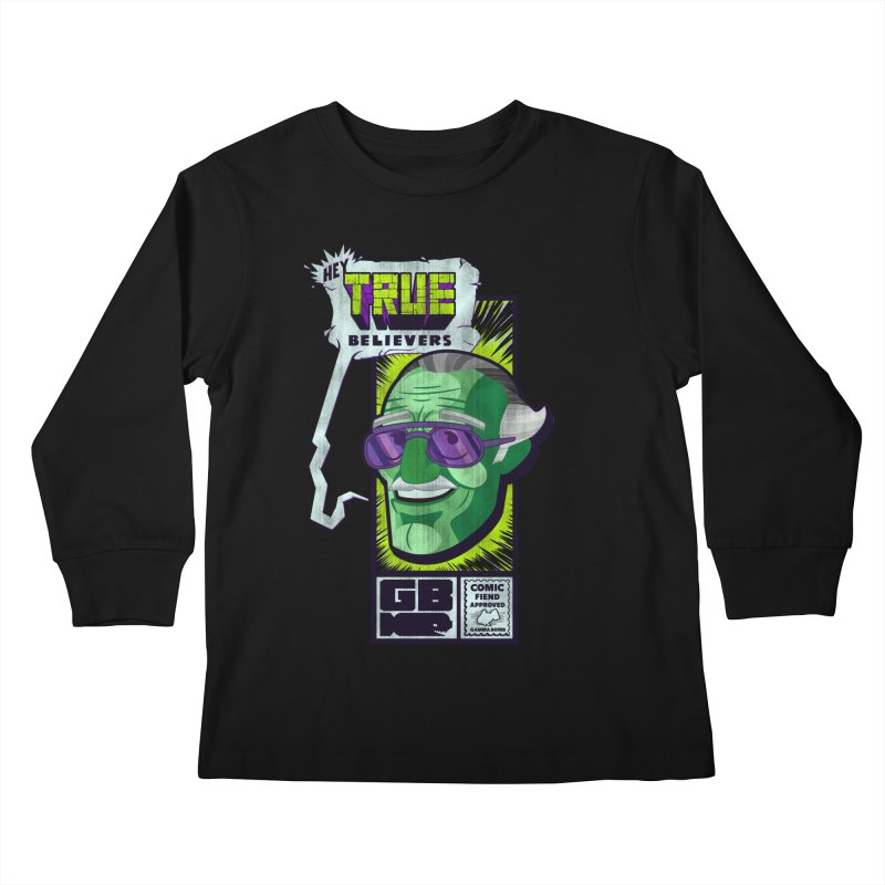 True Believer - Incredible Flavor Kids Longsleeve T-Shirt by Gamma Bomb - Explosively Mutating Your Look