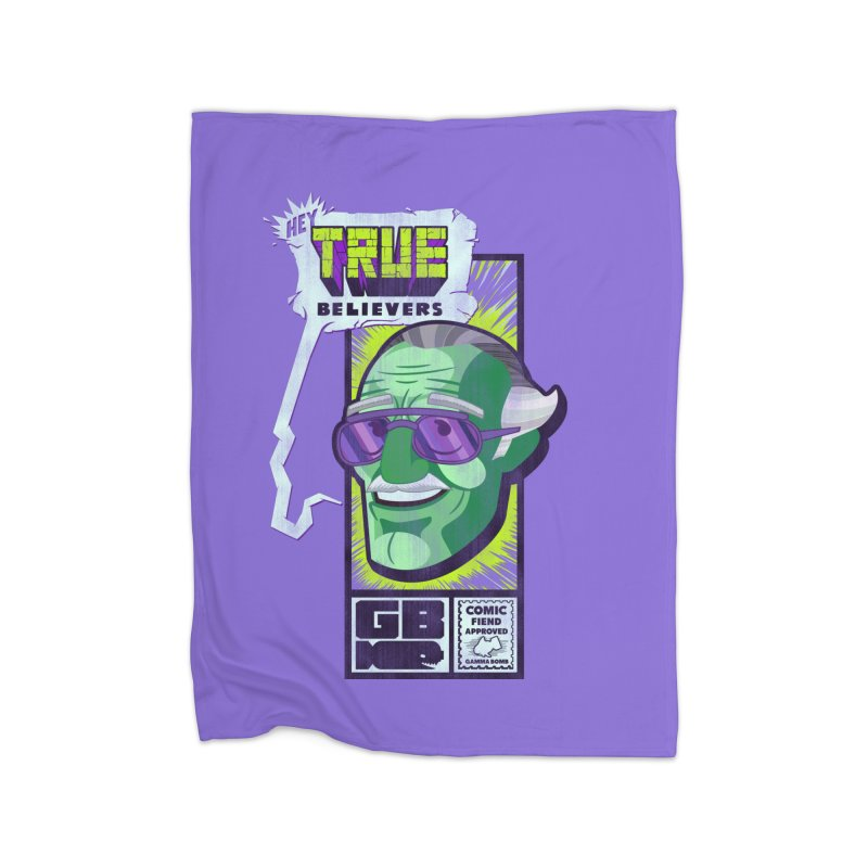 True Believer - Incredible Flavor Home Fleece Blanket Blanket by Gamma Bomb - Explosively Mutating Your Look