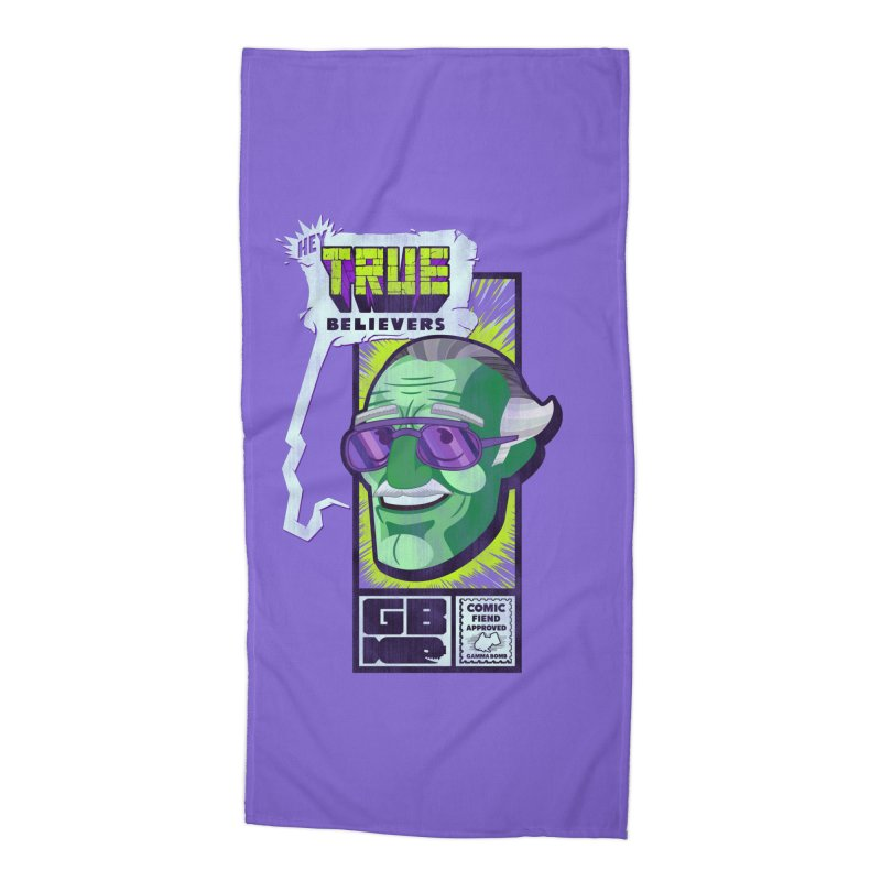 True Believer - Incredible Flavor Accessories Beach Towel by Gamma Bomb - Explosively Mutating Your Look