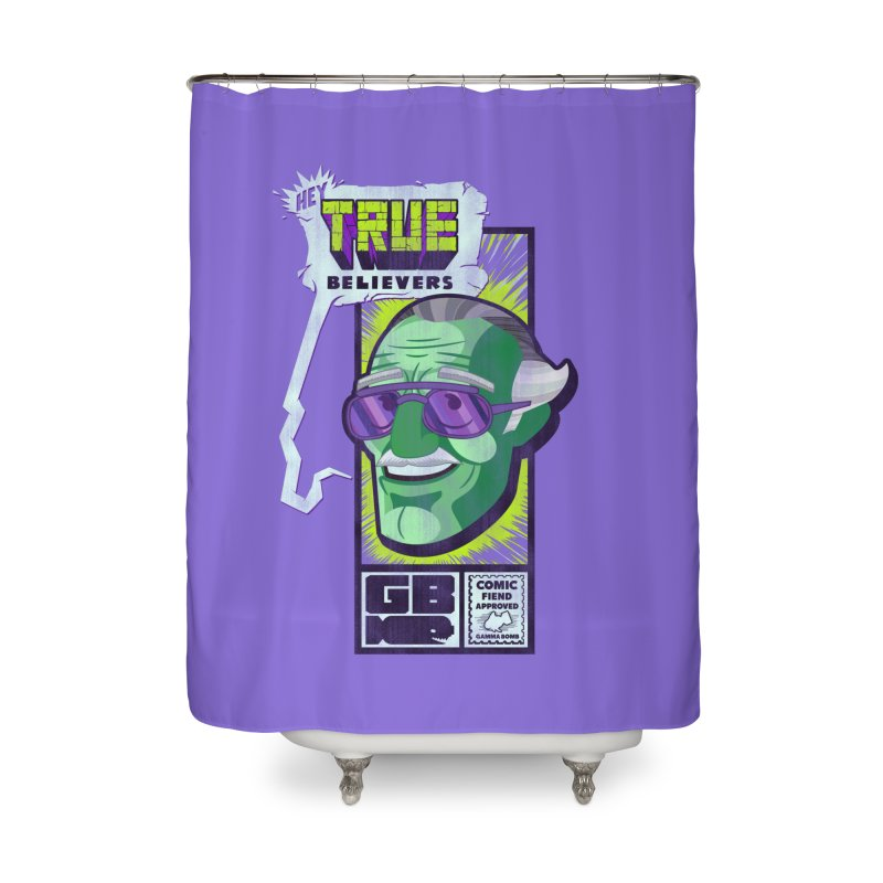 True Believer - Incredible Flavor Home Shower Curtain by Gamma Bomb - Explosively Mutating Your Look