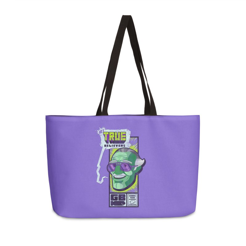 True Believer - Incredible Flavor Accessories Weekender Bag Bag by Gamma Bomb - Explosively Mutating Your Look