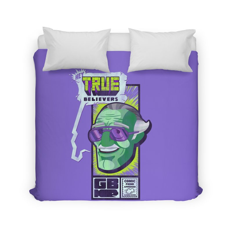 True Believer - Incredible Flavor Home Duvet by Gamma Bomb - Explosively Mutating Your Look