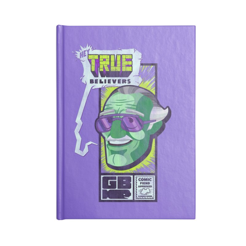 True Believer - Incredible Flavor Accessories Blank Journal Notebook by Gamma Bomb - Explosively Mutating Your Look