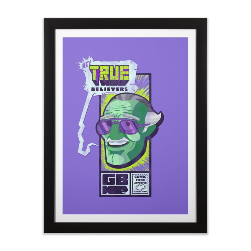 True Believer - Incredible Flavor Home Framed Fine Art Print by Gamma Bomb - Explosively Mutating Your Look