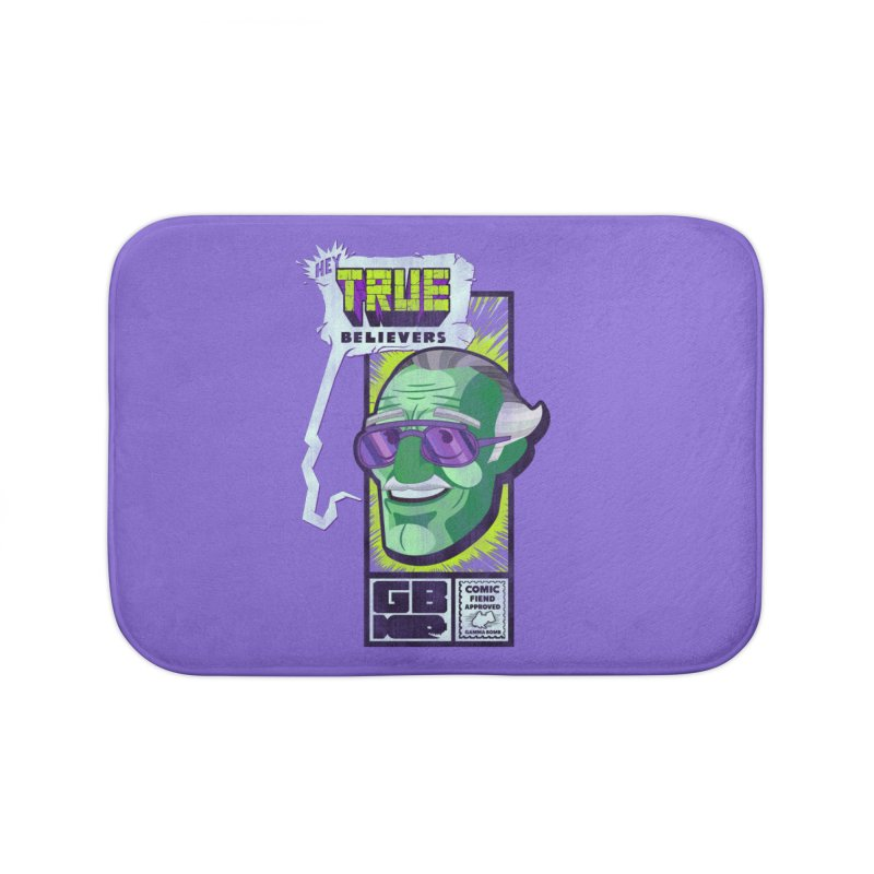 True Believer - Incredible Flavor Home Bath Mat by Gamma Bomb - Explosively Mutating Your Look
