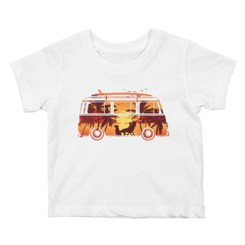 Hit the Road Kids Baby T-Shirt by Gamma-Ray Designs
