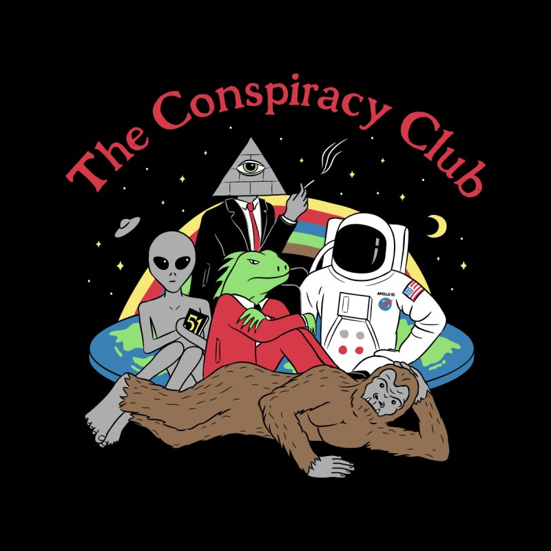 The Conspiracy Club Men's Zip-Up Hoody by Gamma-Ray Designs