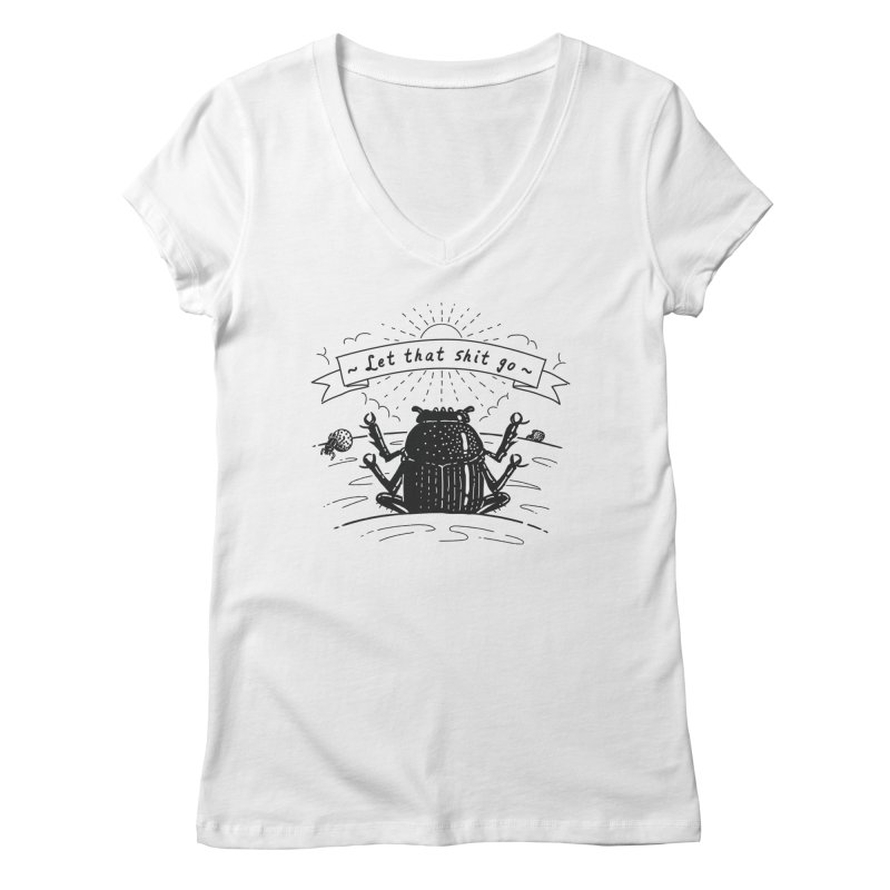 Let it go Women's V-Neck by Gamma-Ray Designs