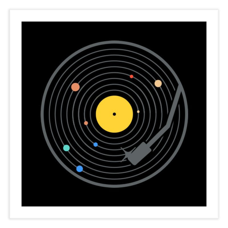 The Vinyl System (Colour) Home Fine Art Print by Gamma-Ray Designs