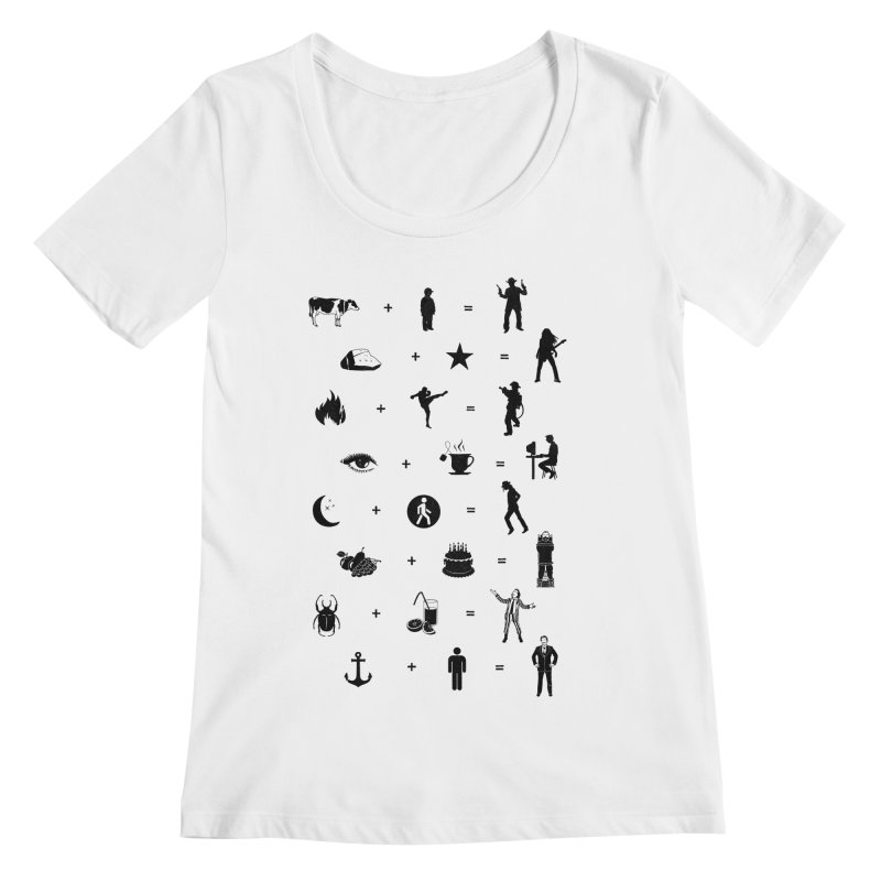 Who Needs Words Women's Scoopneck by Gamma-Ray's Artist Shop
