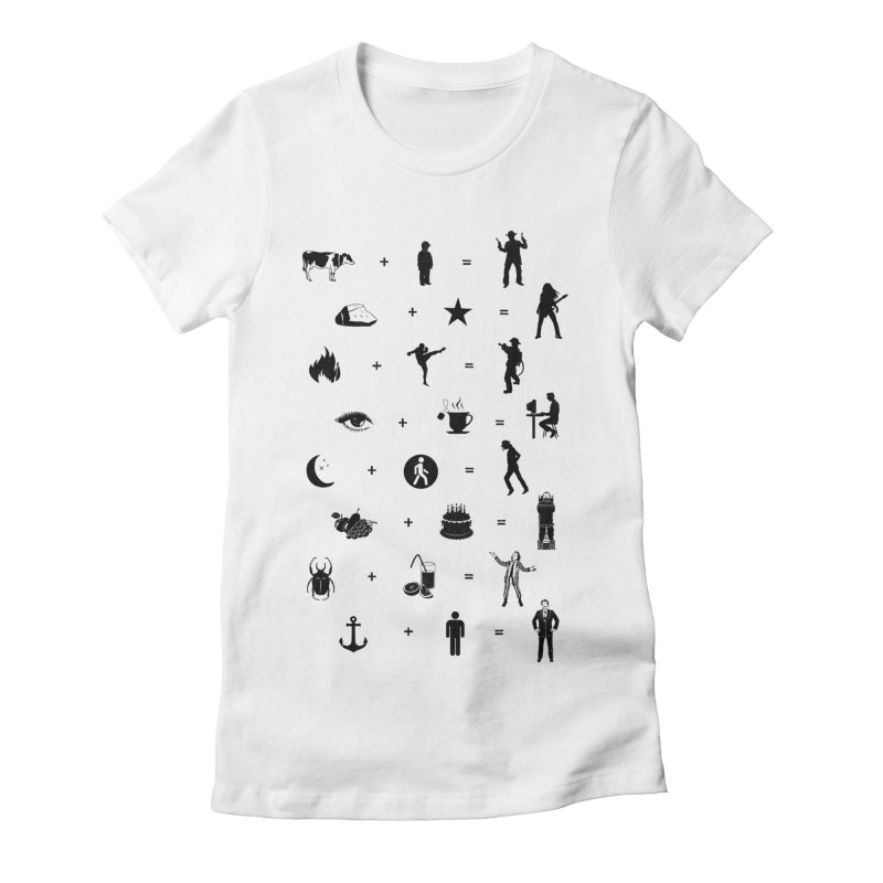 Who Needs Words Women's Fitted T-Shirt by Gamma-Ray's Artist Shop