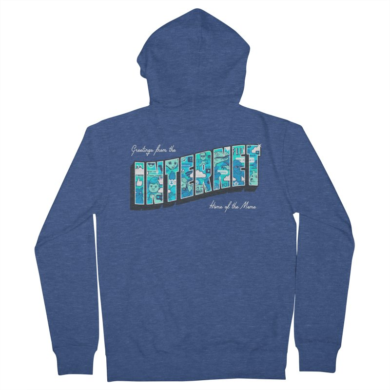 The Internet Men's Zip-Up Hoody by Gamma-Ray Designs
