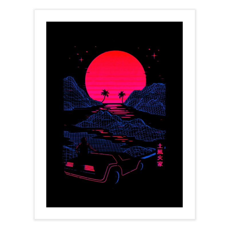 Midnight Cruise Home Fine Art Print by Gamma-Ray Designs