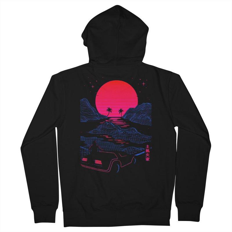 Midnight Cruise Men's Zip-Up Hoody by Gamma-Ray Designs
