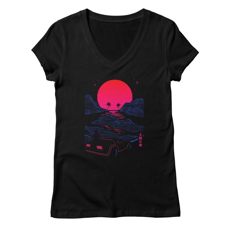 Midnight Cruise Women's V-Neck by Gamma-Ray Designs