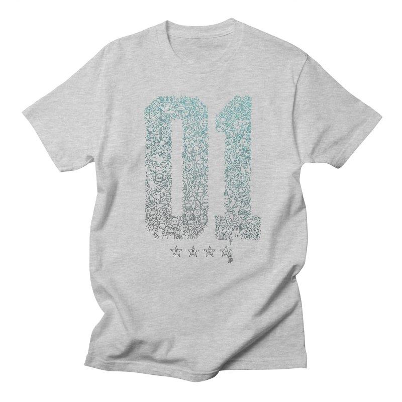 Doodle Digitz Men's T-shirt by Gamma-Ray's Artist Shop