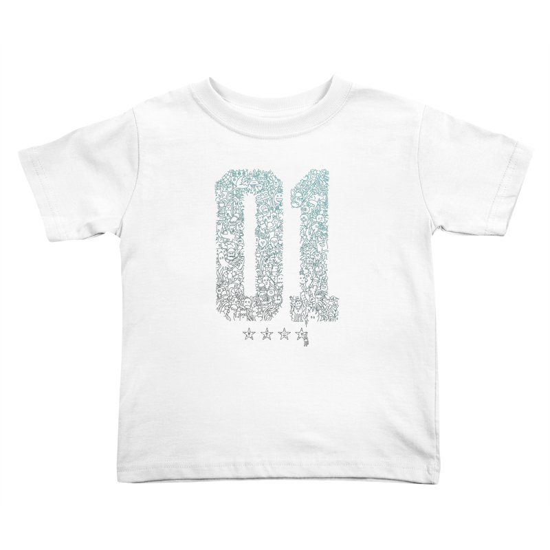 Doodle Digitz Kids Toddler T-Shirt by Gamma-Ray's Artist Shop