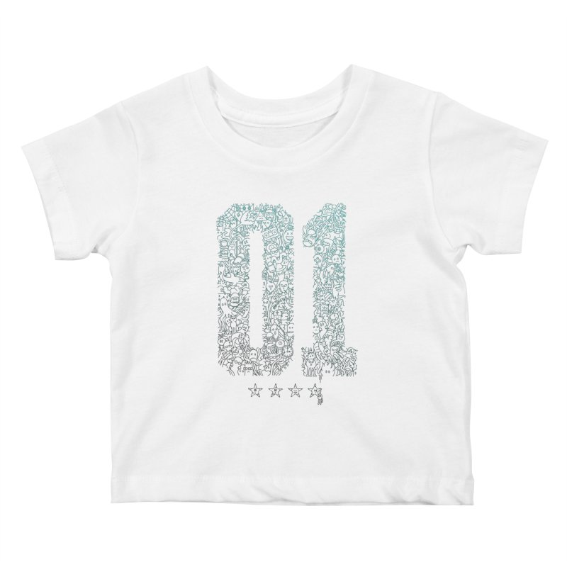 Doodle Digitz Kids Baby T-Shirt by Gamma-Ray's Artist Shop