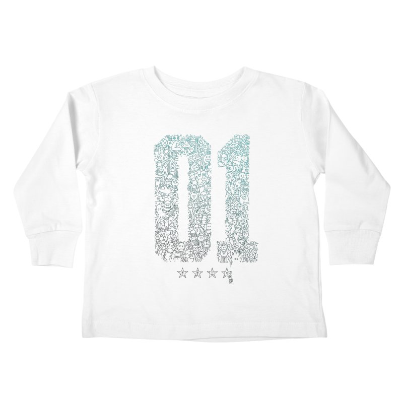 Doodle Digitz Kids Toddler Longsleeve T-Shirt by Gamma-Ray's Artist Shop