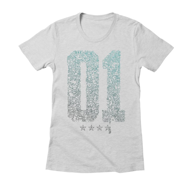 Doodle Digitz Women's Fitted T-Shirt by Gamma-Ray's Artist Shop
