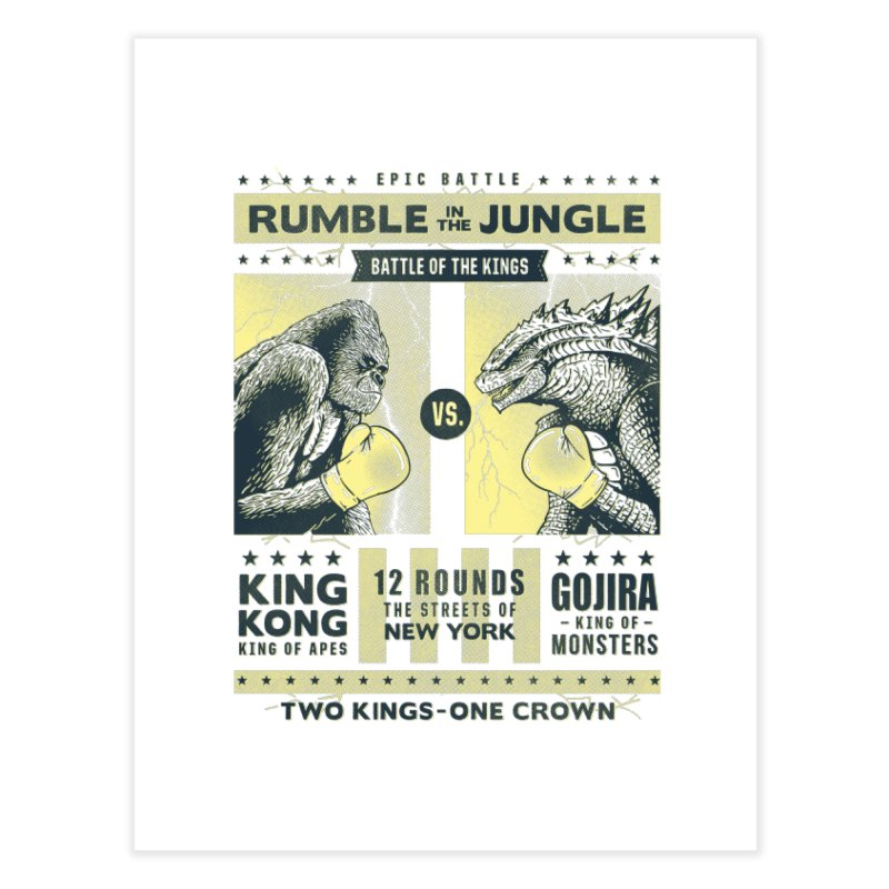 Rumble in the Jungle! Home Fine Art Print by Gamma-Ray Designs