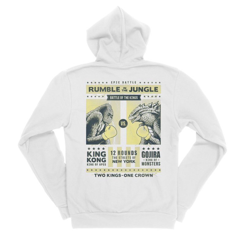Rumble in the Jungle! Men's Zip-Up Hoody by Gamma-Ray Designs