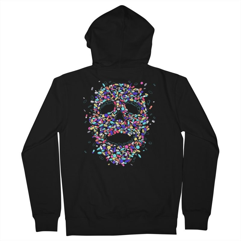 Pills Men's Zip-Up Hoody by Gamma-Ray Designs