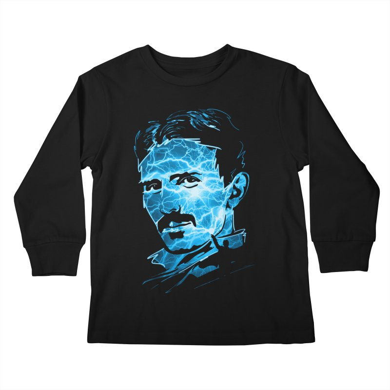 Nikola Kids Longsleeve T-Shirt by Gamma-Ray Designs