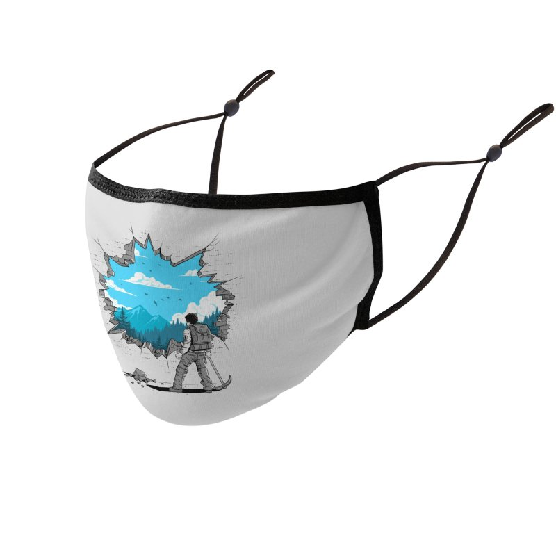 Breakthrough (to the other side) 2 Accessories Face Mask by Gamma-Ray Designs