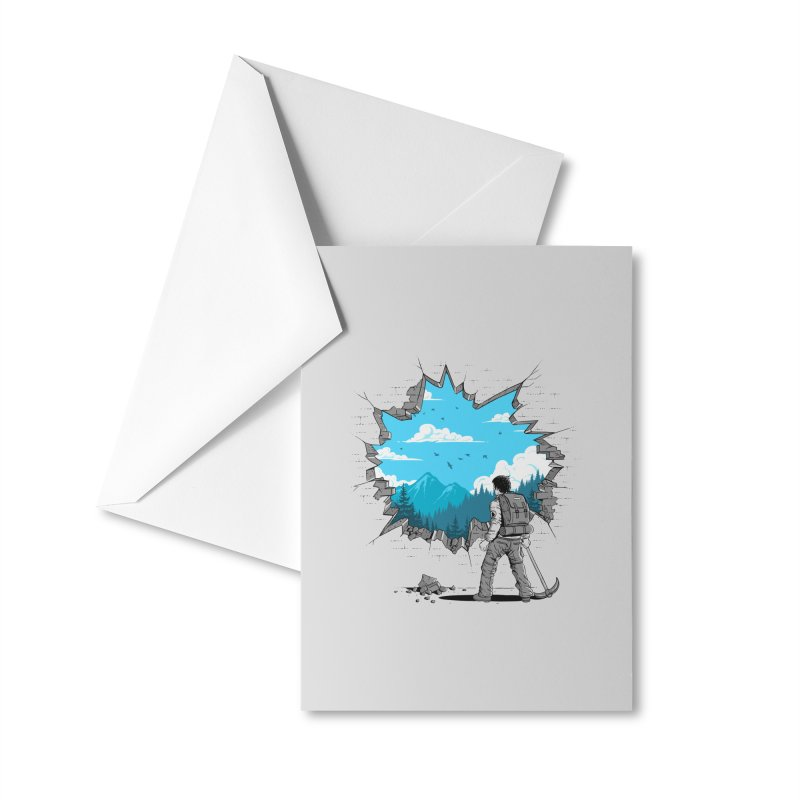 Breakthrough (to the other side) 2 Accessories Greeting Card by Gamma-Ray Designs