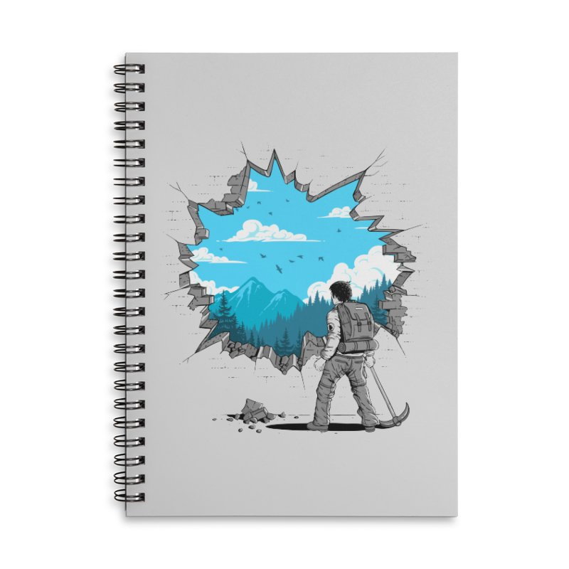 Breakthrough (to the other side) 2 Accessories Notebook by Gamma-Ray Designs