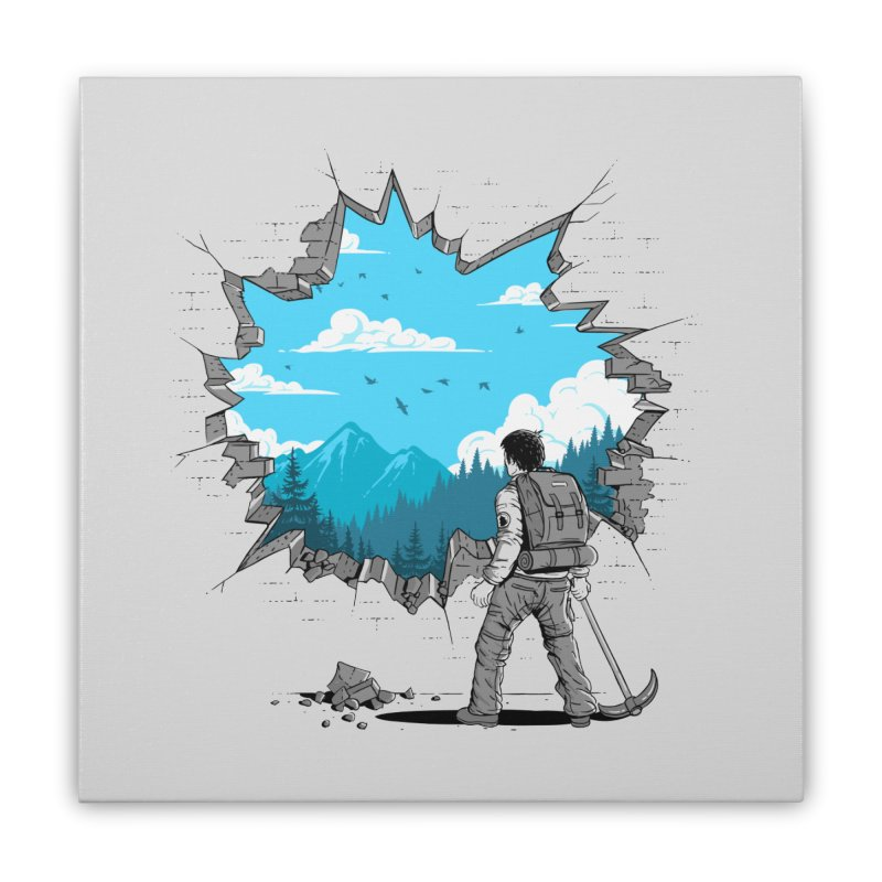 Breakthrough (to the other side) 2 Home Stretched Canvas by Gamma-Ray Designs