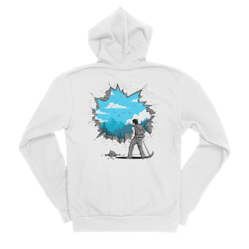 Breakthrough (to the other side) 2 Women's Zip-Up Hoody by Gamma-Ray Designs