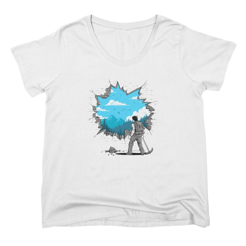 Breakthrough (to the other side) 2 Women's Scoop Neck by Gamma-Ray Designs
